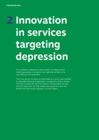 Innovation in services targeting depression